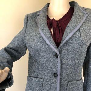 Banana Republic gray wool blend blazer
